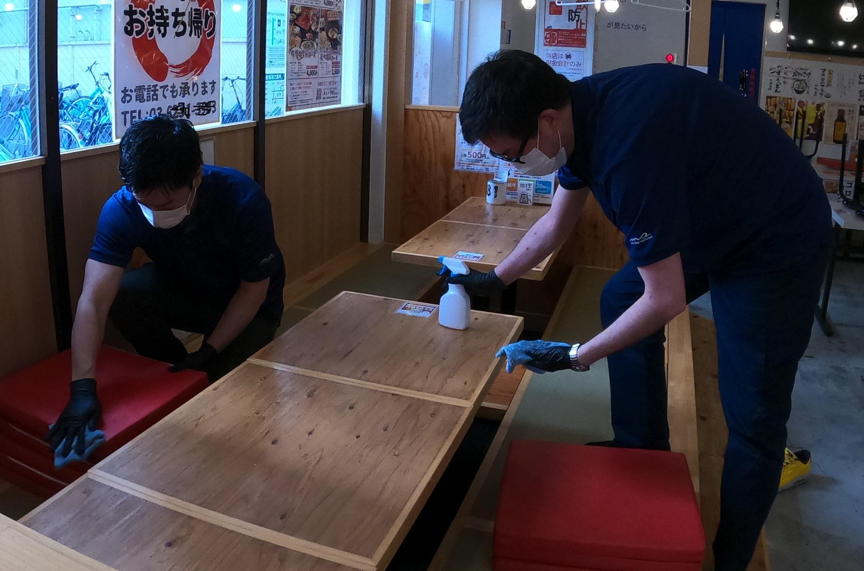 【コロナ対策】予防除菌作業の画像